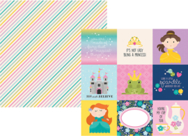 "Little Princess 4x4 Elements Double Sided 12x12"" - Unit of 5"
