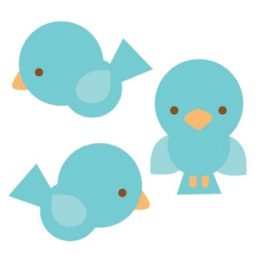 Birdies Sweet Rolls Mini Icon Stickers - Unit of 3