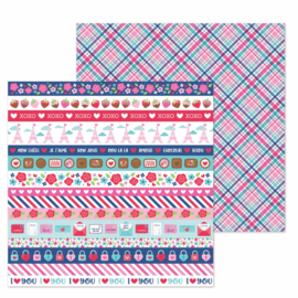 "Passion for Plaid Double Sided 12x12""  - Unit of 5"
