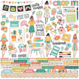 Hey, Crafty Girl Combo Stickers - unit of 3