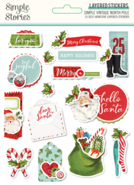 SV North Pole - Layered Stickers - Unit of 3
