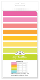 Cabana Stripe Daily Doodles Travel Planner Inserts - Unit of 1