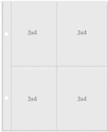 Snap Pocket Pages 3x4 - Unit of 6