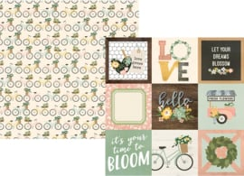 """Spring Farmhouse 4x4 Elements Double Sided 12x12"""" - Unit of 5"""