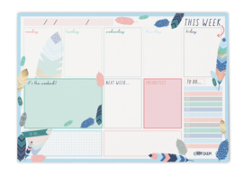 Weekly Planner Pad Feathers - Unit of 1
