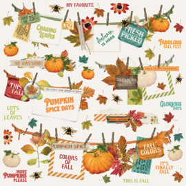 Autumn Splendor Banners Stickers Sheet - Unit of 3