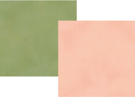 """Spring Farmhouse Blush/Green Double Sided 12x12"""" - Unit of 5"""
