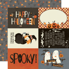 "Boo Crew- 4x6 Elements Double Sided 12x12"" - Unit of 5"