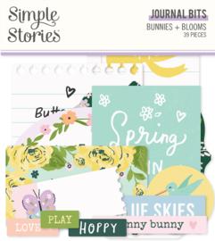 Bunnies + Blooms - Journal Bits & Pieces - Unit of 3