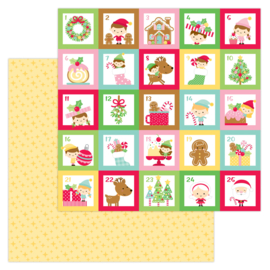 """Christmas Magic 12x12"""" Double Sided 12x12""""  - Unit of 5"""