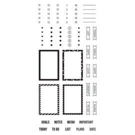 Make a List Stamps - Unit of 3