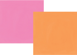 "Oh, Happy Day! Orange/Pink Double Sided 12x12"" - Unit of 5"