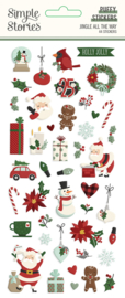 Jingle All the Way - Puffy Stickers - Unit of 3