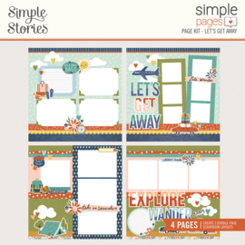 Simple Pages Page Kit - Let's Get Away - Unit of 3