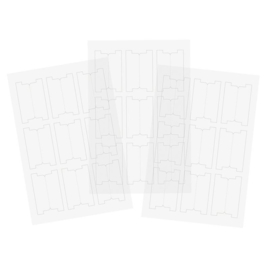 Clear Tab Stickers - Unit of 3