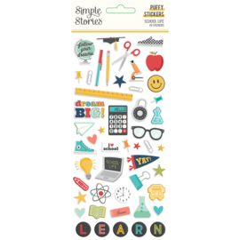School Life - Puffy Stickers- Unit of 3