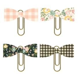 Spring Farmhouse Bow Clips - Unit of 3