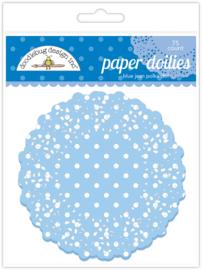 Blue Jean Swiss Dot Doilies - Unit of 3