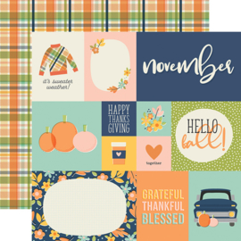 "Best Year Ever November Double Sided 12x12"" - Unit of 5"