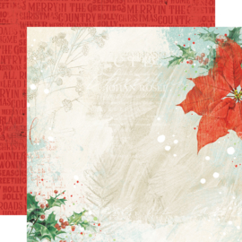 """Country Christmas Glad Tidings Double Sided 12x12"""" - Unit of 5"""