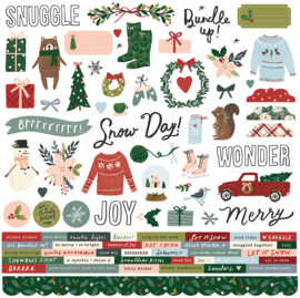 Winter Cottage Combo Stickers - unit of 3
