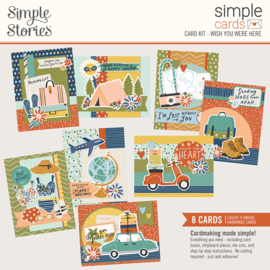 Simple Cards Card Kit - Wish You Were Here - Unit of 3