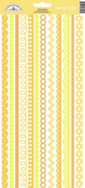 Bumblebee Fancy Frills Cardstock Stickers - Unit of 6
