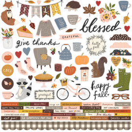 Cozy Days Combo Stickers - unit of 3