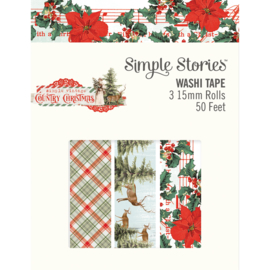 Country Christmas Washi Tape - Unit of 3