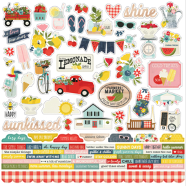 Summer Farmhouse Combo Stickers - unit of 3
