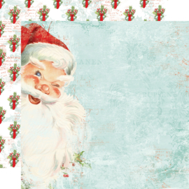"SV North Pole - St. Nicholas Double Sided 12x12"" - Unit of 5"