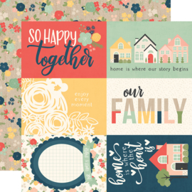 "So Happy Together 4x6 Elements Double Sided 12x12"" - Unit of 5"
