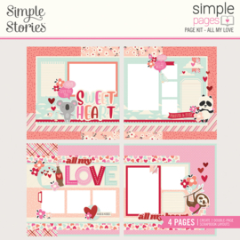 Simple Pages Page Kit - All My Love - Unit of 3