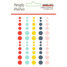 Summer Farmhouse  Enamel Dots- Unit of 3