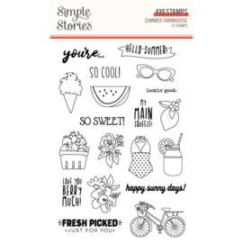 Summer Farmhouse 4x6 Stamps - Unit of 2