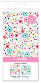 Poppy Party Daily Doodles Travel Planner Inserts - Unit of 1