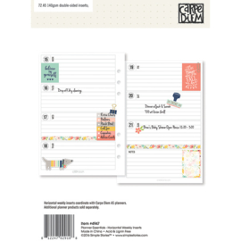 Planner Essentials A5 Horizontal Format Weekly Inserts- Unit of 3