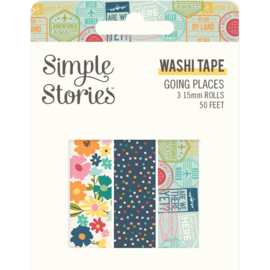 Going Places Washi Tape - Unit of 3