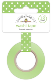 Limeade Swiss Dot Washi Tape Unit of 3