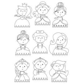 Little Princess Pretty Princess 4x6 Stamps - Unit of 1
