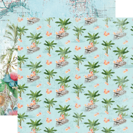 "SV Coastal Tropical Life Double Sided 12x12"" - Unit of 5"