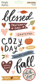 Cozy Days Foam Stickers - Unit of 3