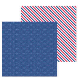 "Navy Dot Double Sided 12x12""  - Unit of 5"