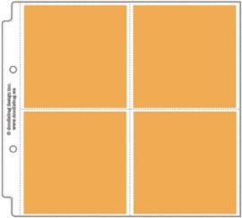 "4x4 Square Album Refill Protector 8x8"" Unit of 3"