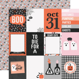 "Happy Haunting 3x4 Elements Double Sided 12x12"" - Unit of 5"