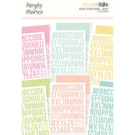 Color Vibe Lights Alpha Sticker Book  - Unit of 3