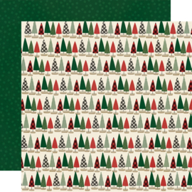 "Jingle All the Way - Tree Trimming Double Sided 12x12"" - Unit of 5"