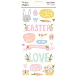 Bunnies + Blooms - Foam Stickers - Unit of 3