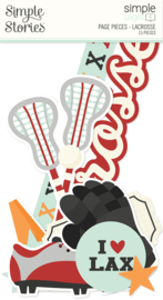 Simple Pages Page Pieces - Lacrosse - unit of 6