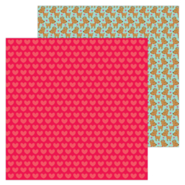 """Christmas Love 12x12"""" Double Sided 12x12""""  - Unit of 5"""
